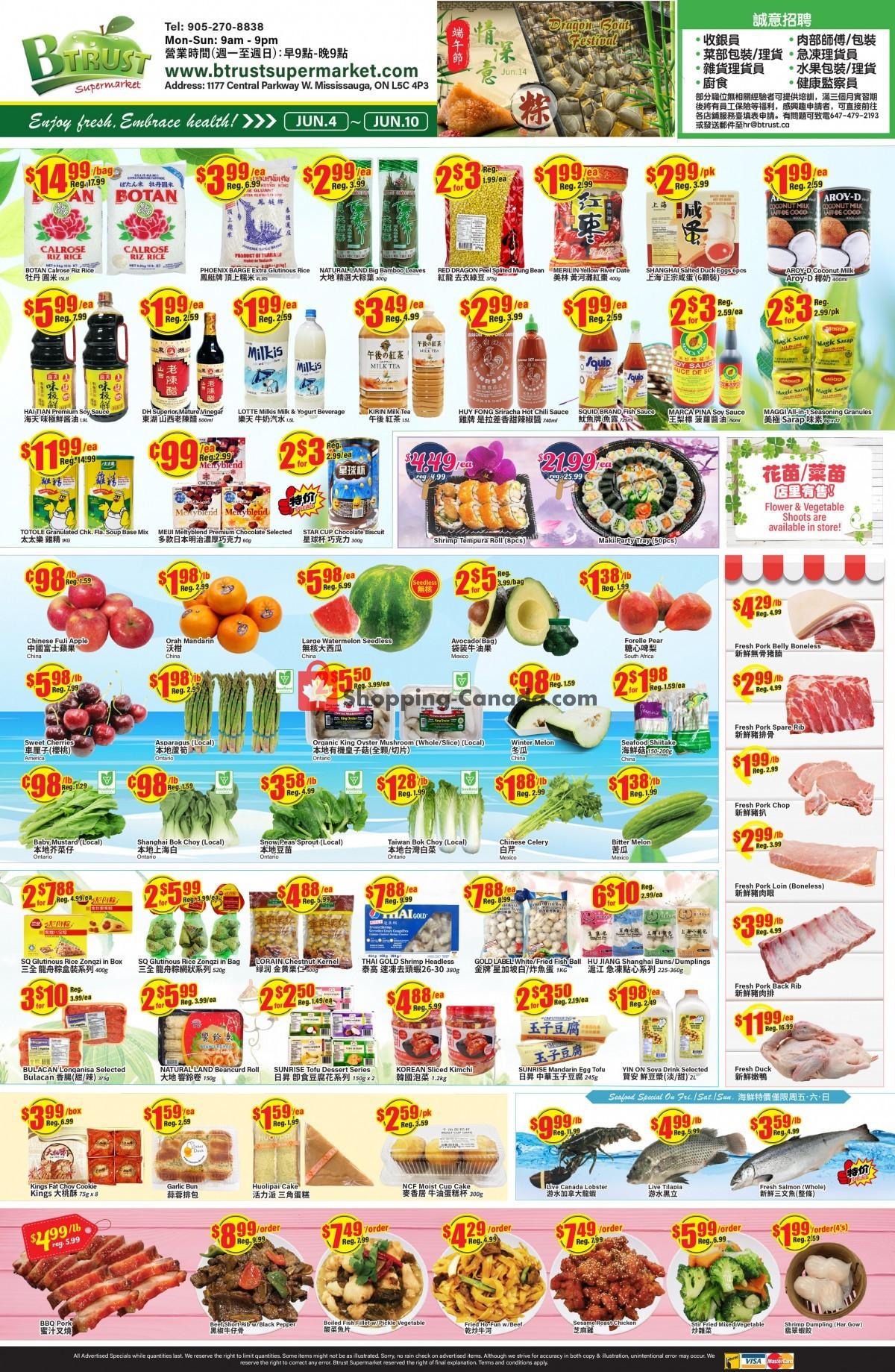 Flyer Btrust Supermarket Canada - from Friday June 4, 2021 to Thursday June 10, 2021