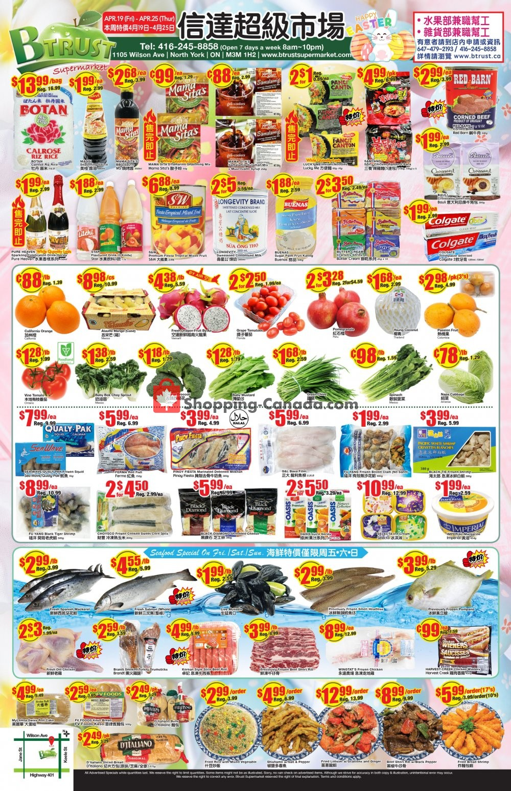 Flyer Btrust Supermarket Canada - from Friday April 19, 2019 to Thursday April 25, 2019