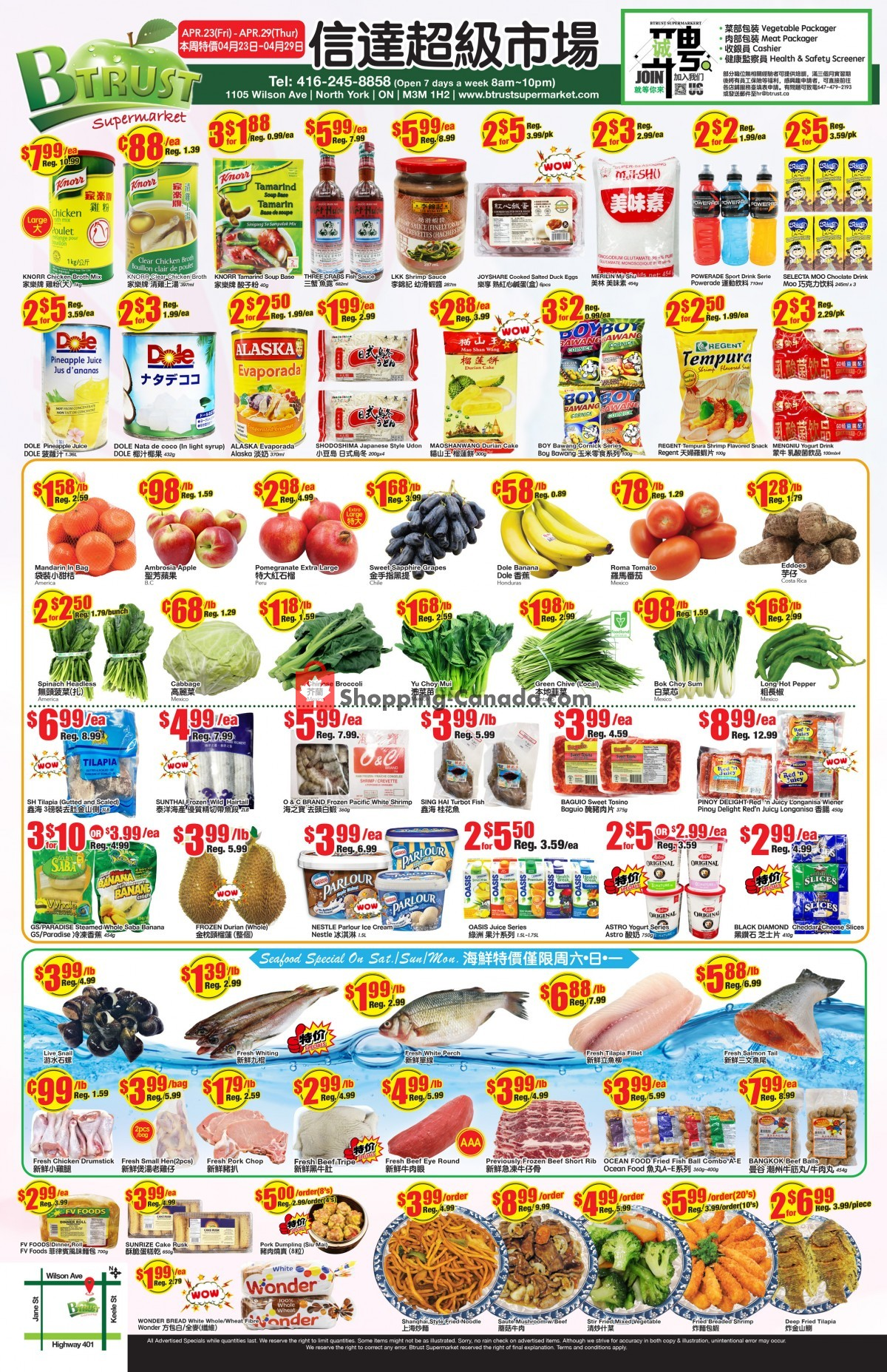 Flyer Btrust Supermarket Canada - from Friday April 23, 2021 to Thursday April 29, 2021