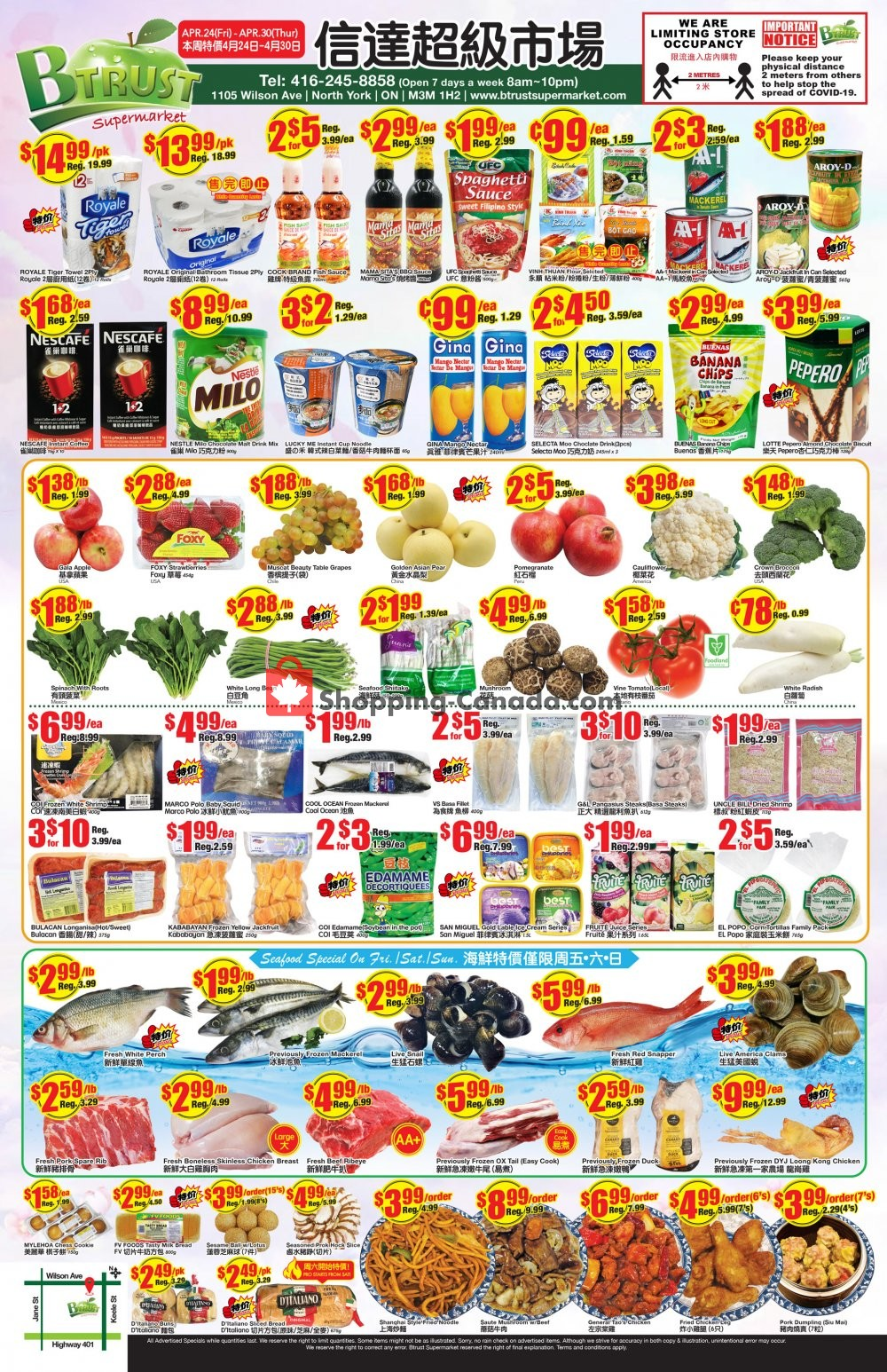 Flyer Btrust Supermarket Canada - from Friday April 24, 2020 to Thursday April 30, 2020