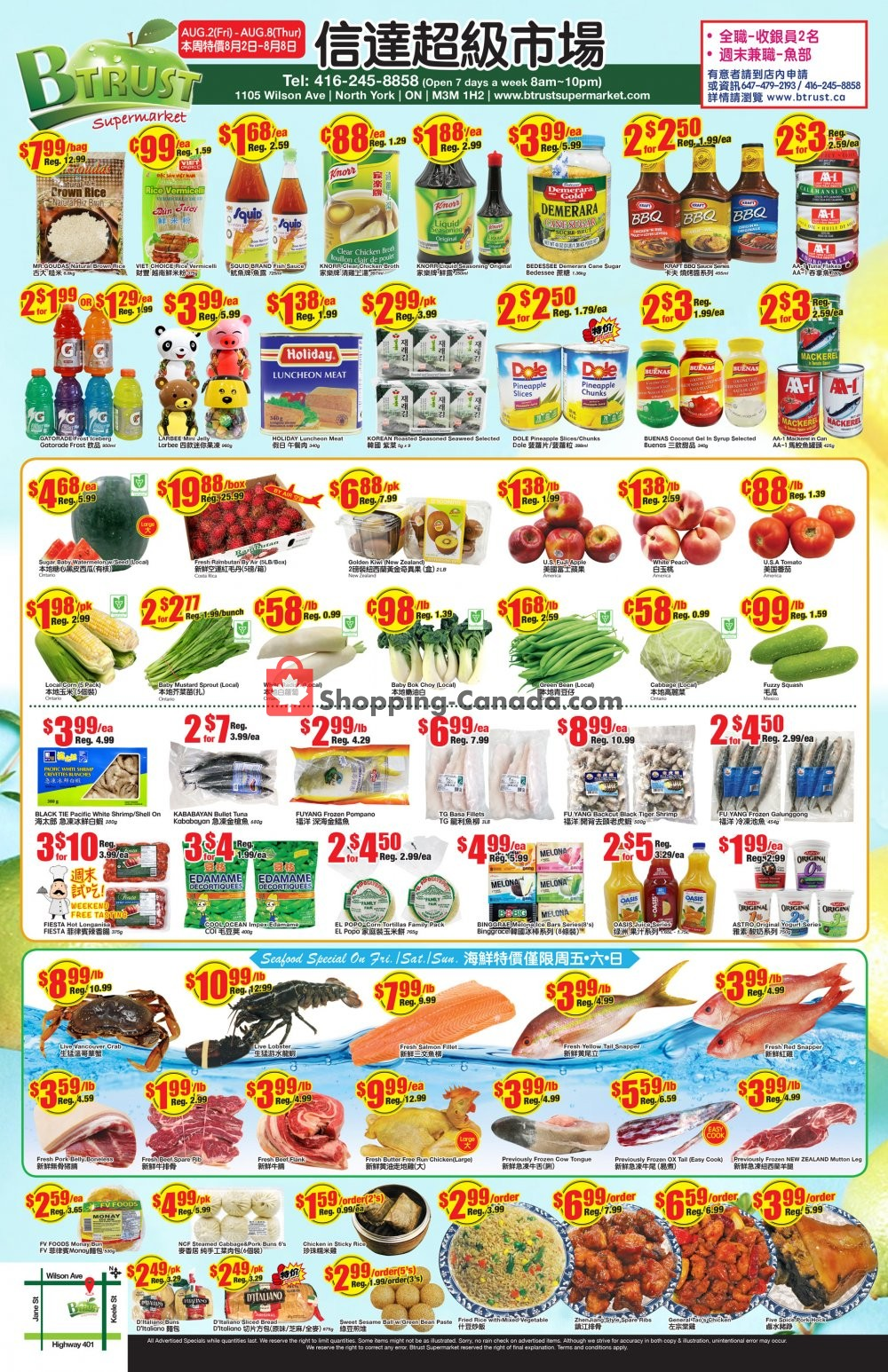 Flyer Btrust Supermarket Canada - from Friday August 2, 2019 to Thursday August 8, 2019