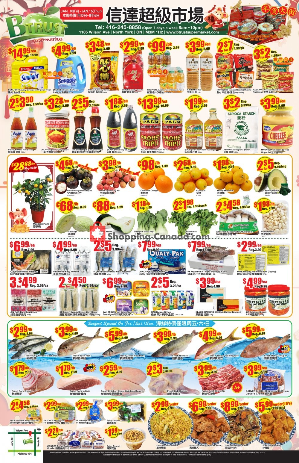 Flyer Btrust Supermarket Canada - from Friday January 10, 2020 to Thursday January 16, 2020