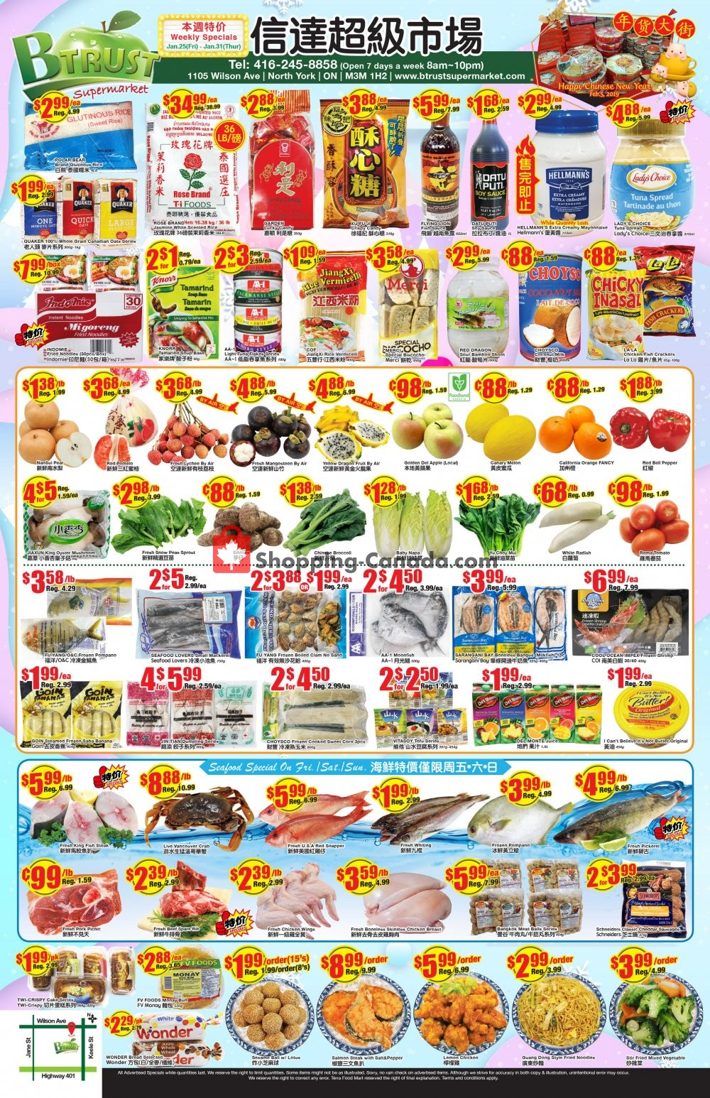 Flyer Btrust Supermarket Canada - from Friday January 25, 2019 to Thursday January 31, 2019