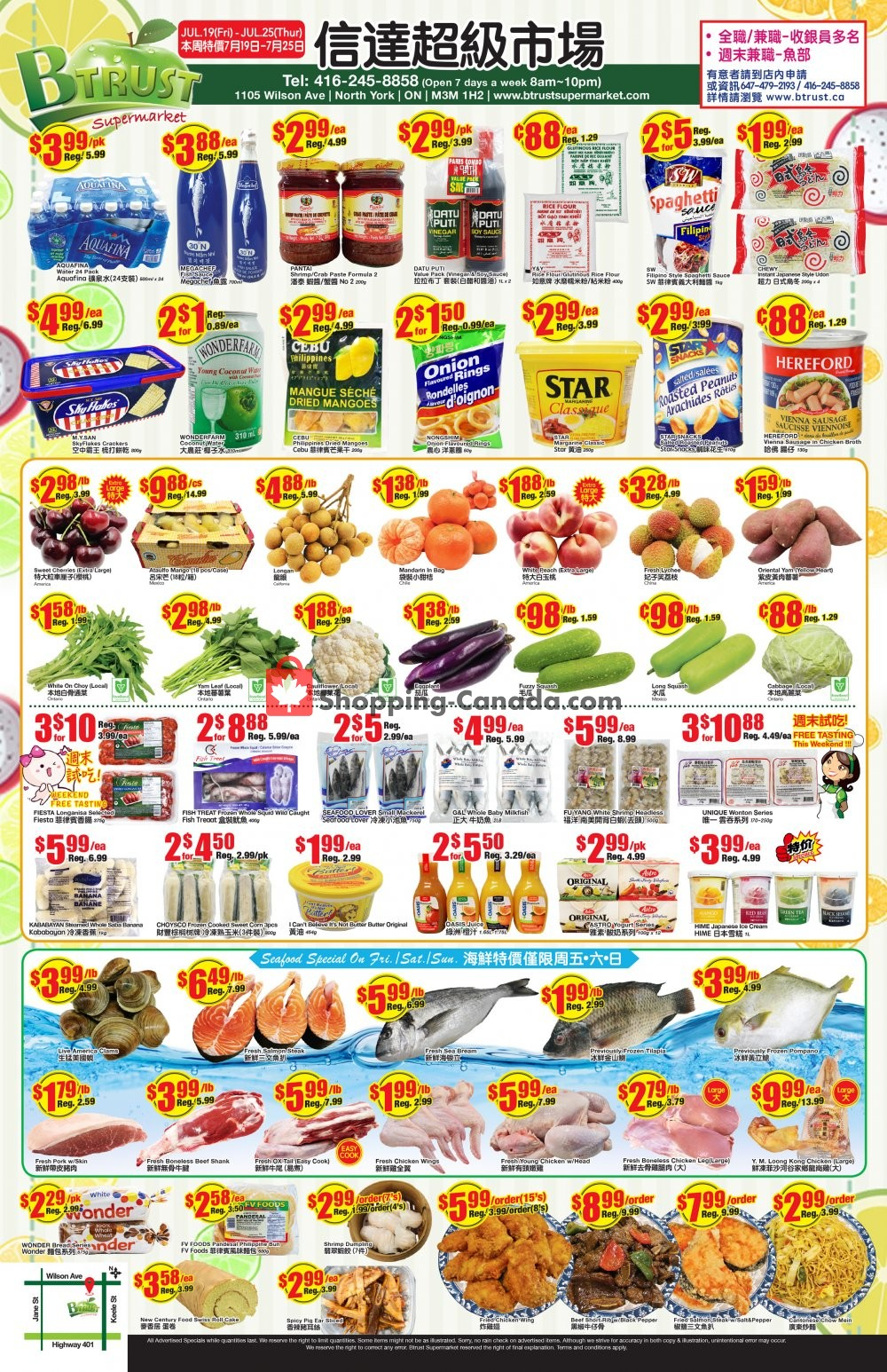 Flyer Btrust Supermarket Canada - from Friday July 19, 2019 to Thursday July 25, 2019