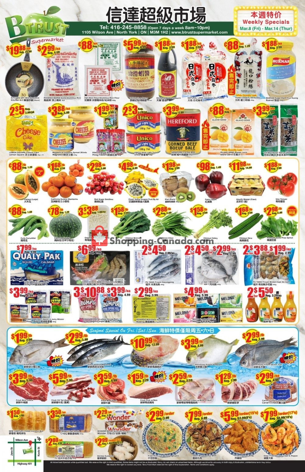 Flyer Btrust Supermarket Canada - from Friday March 8, 2019 to Thursday March 14, 2019