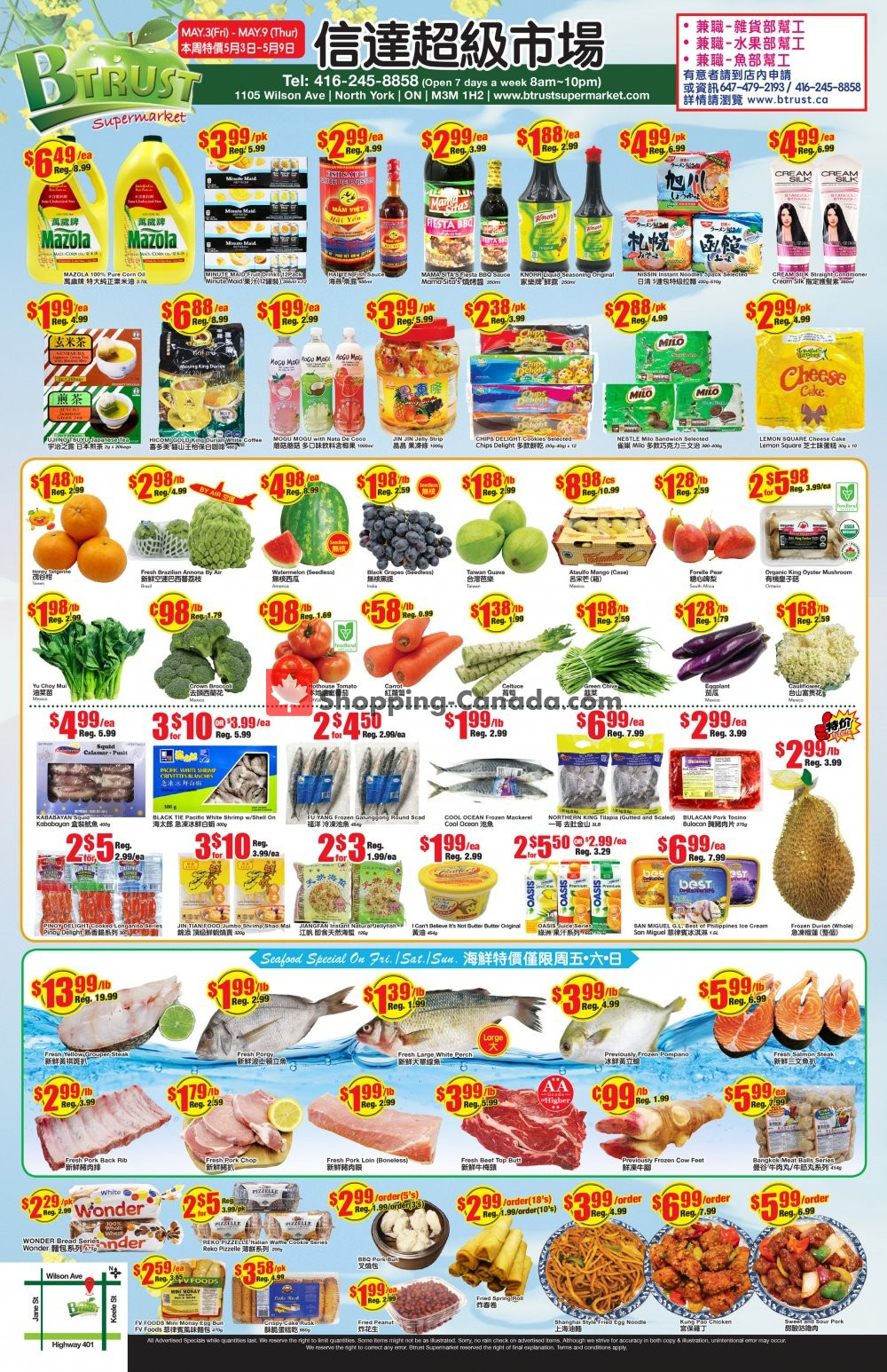 Flyer Btrust Supermarket Canada - from Friday May 3, 2019 to Thursday May 9, 2019
