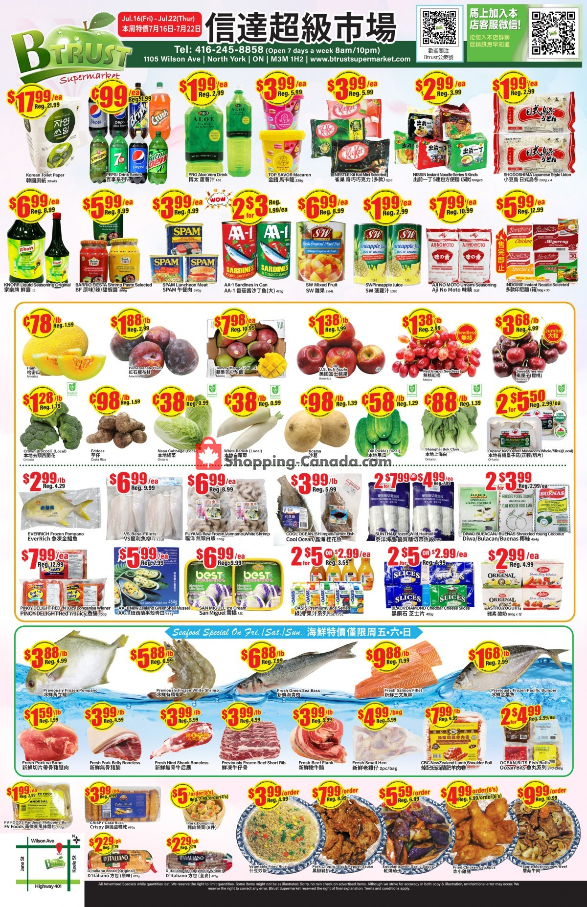 Flyer Btrust Supermarket Canada - from Friday July 16, 2021 to Thursday July 22, 2021