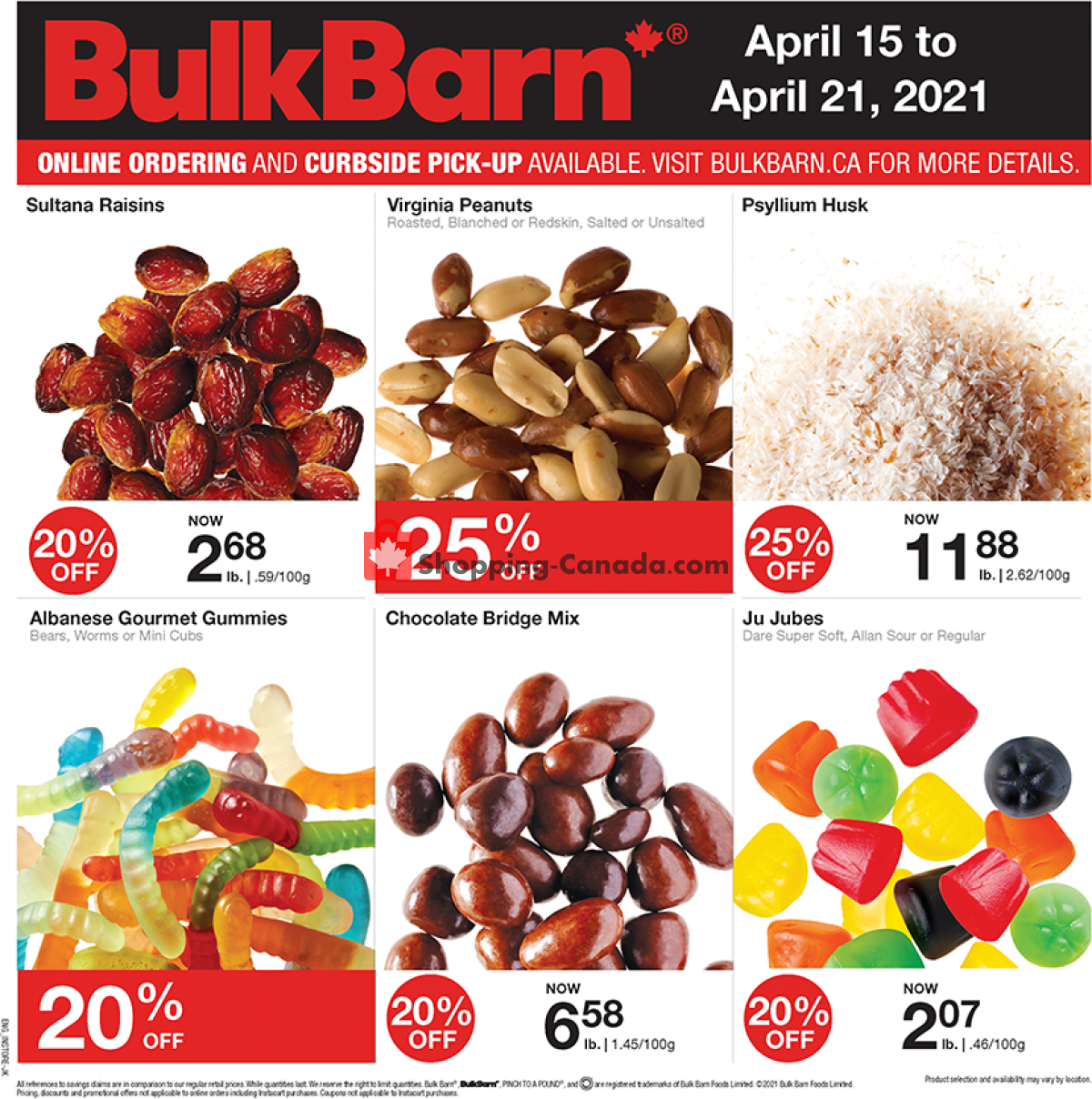Flyer Bulk Barn Canada - from Thursday April 15, 2021 to Wednesday April 21, 2021