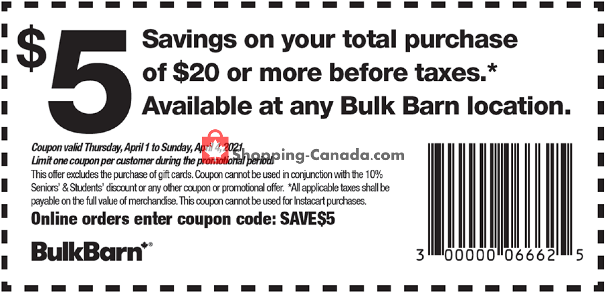 Flyer Bulk Barn Canada - from Thursday April 1, 2021 to Sunday April 4, 2021