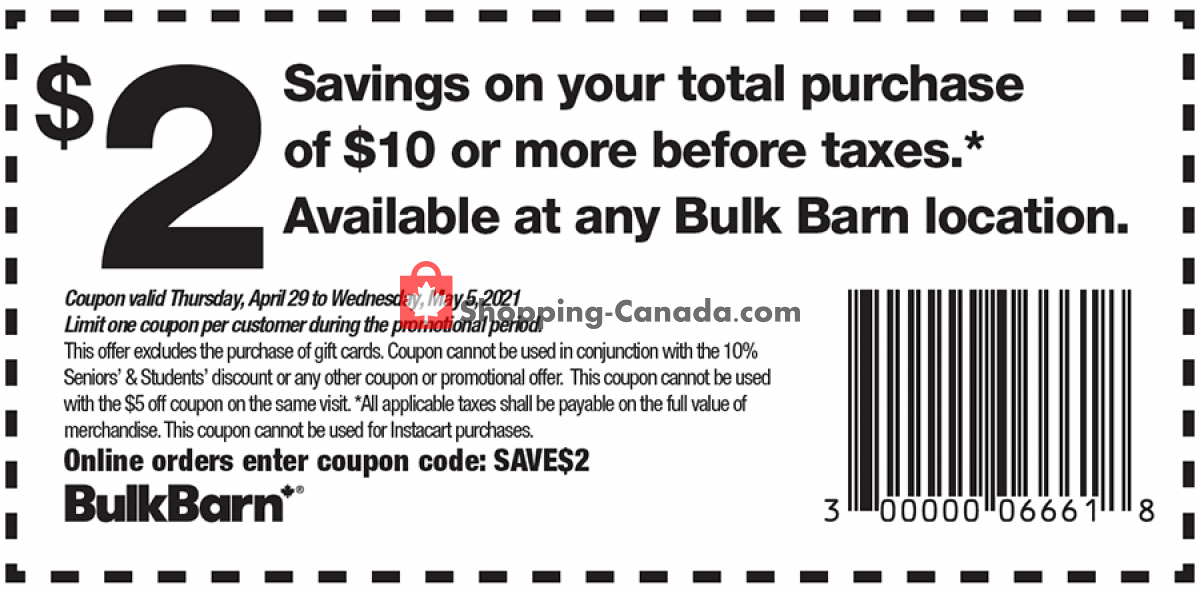 Flyer Bulk Barn Canada - from Thursday April 29, 2021 to Wednesday May 5, 2021