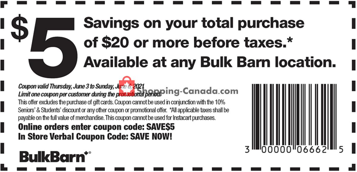 Flyer Bulk Barn Canada - from Thursday June 3, 2021 to Sunday June 6, 2021