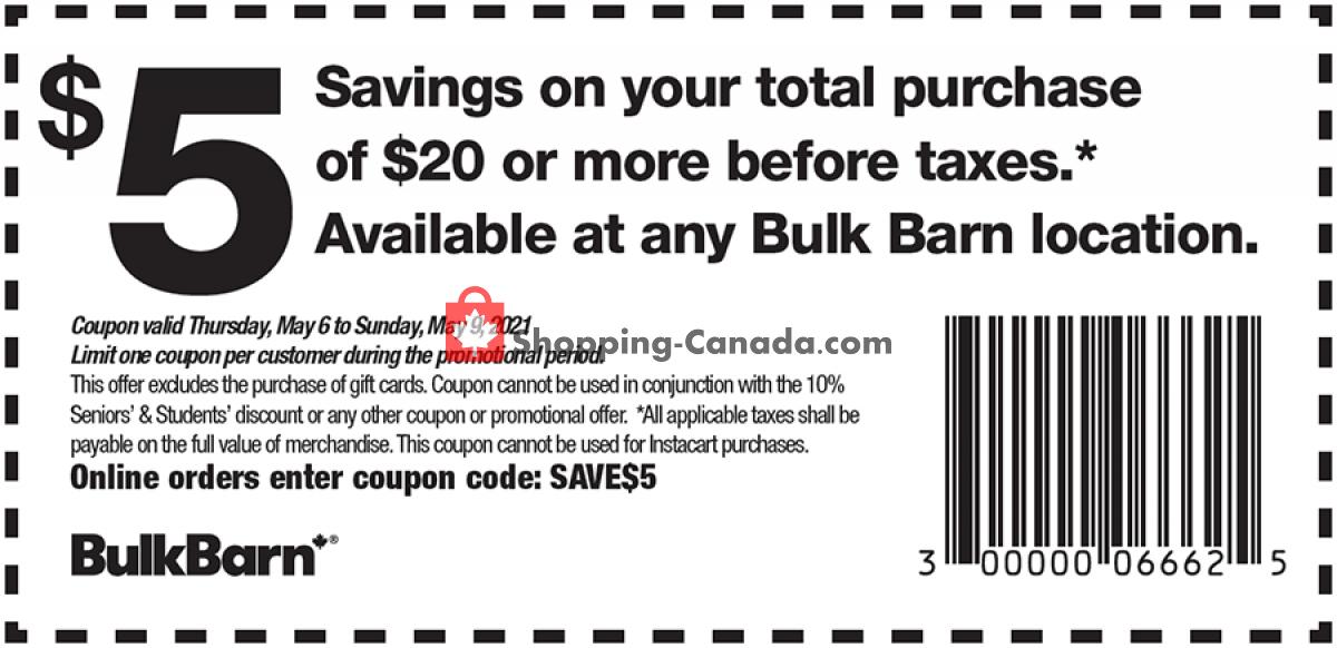 Flyer Bulk Barn Canada - from Thursday May 6, 2021 to Sunday May 9, 2021