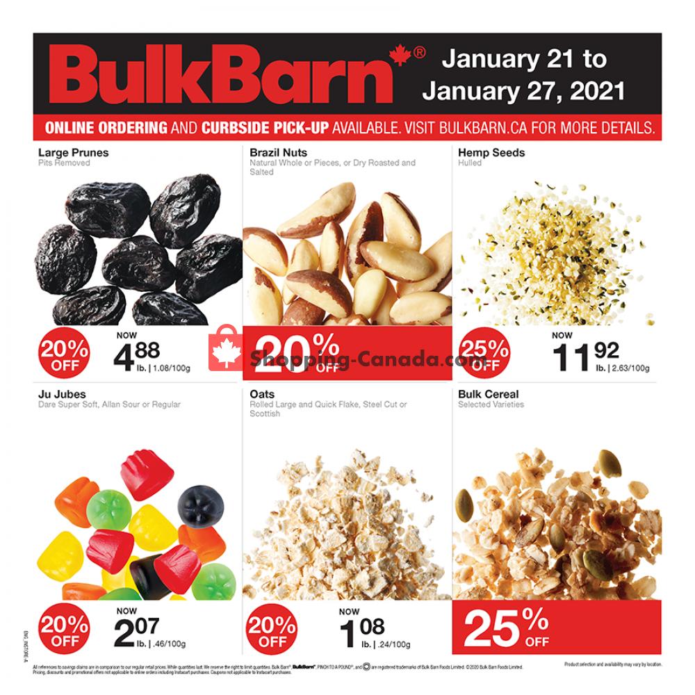 Flyer Bulk Barn Canada - from Thursday January 21, 2021 to Wednesday January 27, 2021