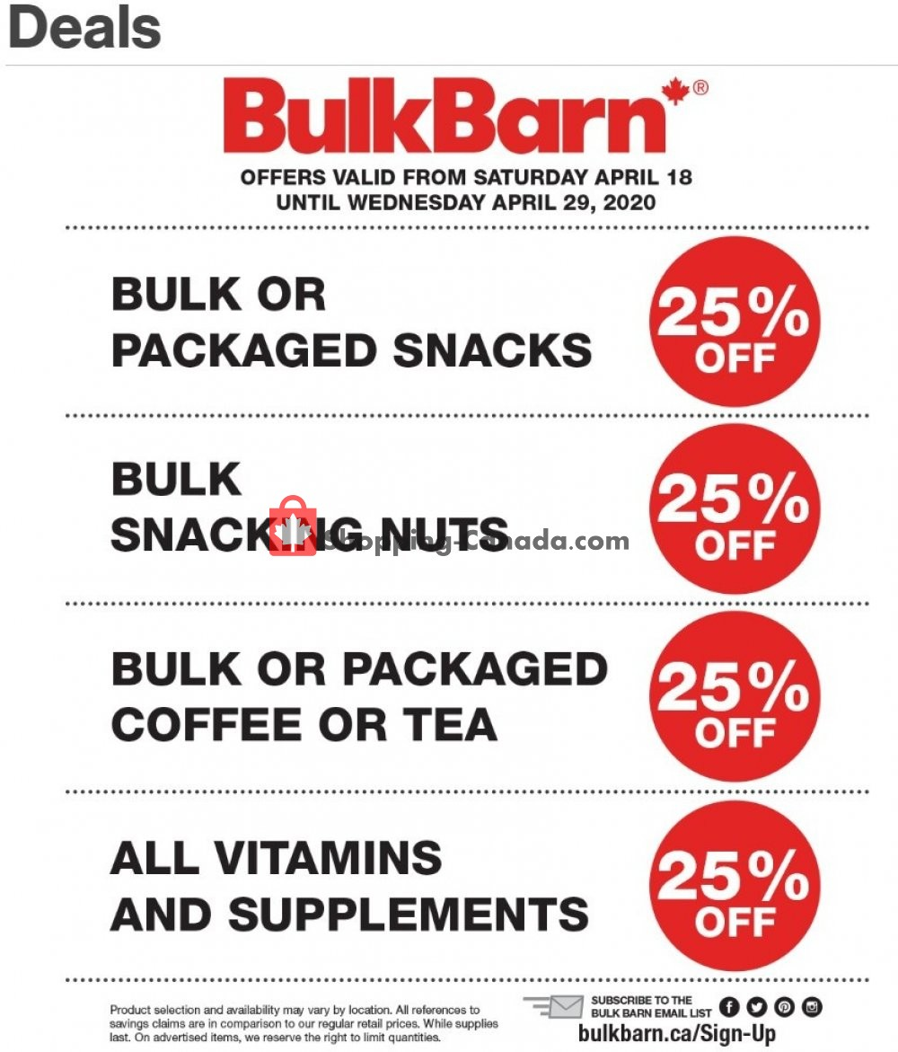 Flyer Bulk Barn Canada - from Saturday April 18, 2020 to Wednesday April 29, 2020
