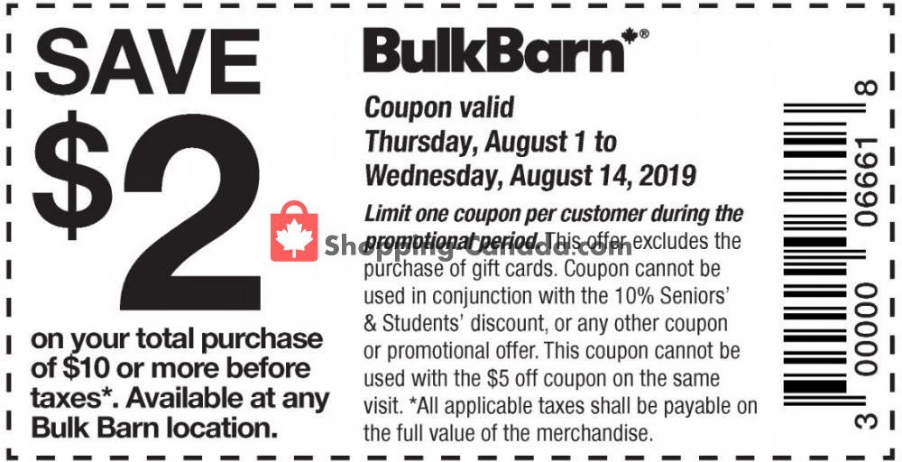 Flyer Bulk Barn Canada - from Thursday August 1, 2019 to Wednesday August 14, 2019
