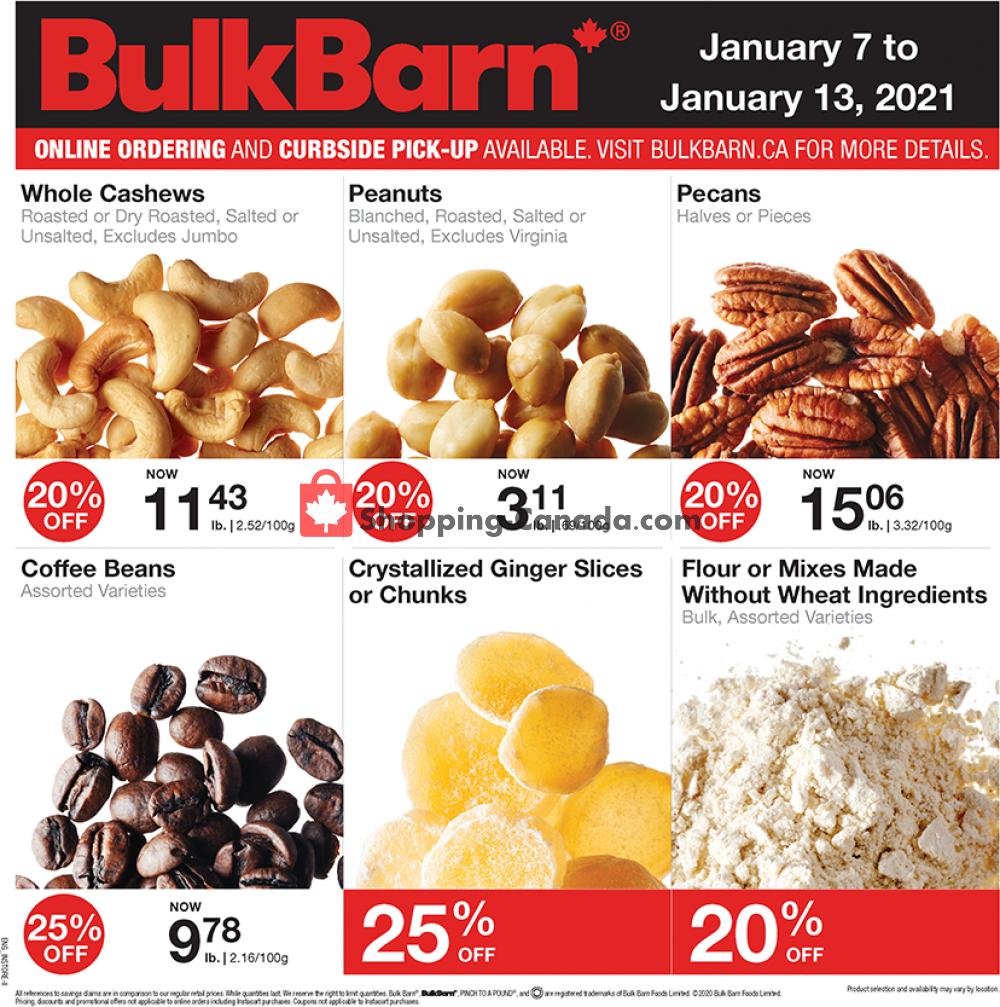 Flyer Bulk Barn Canada - from Thursday January 7, 2021 to Wednesday January 13, 2021