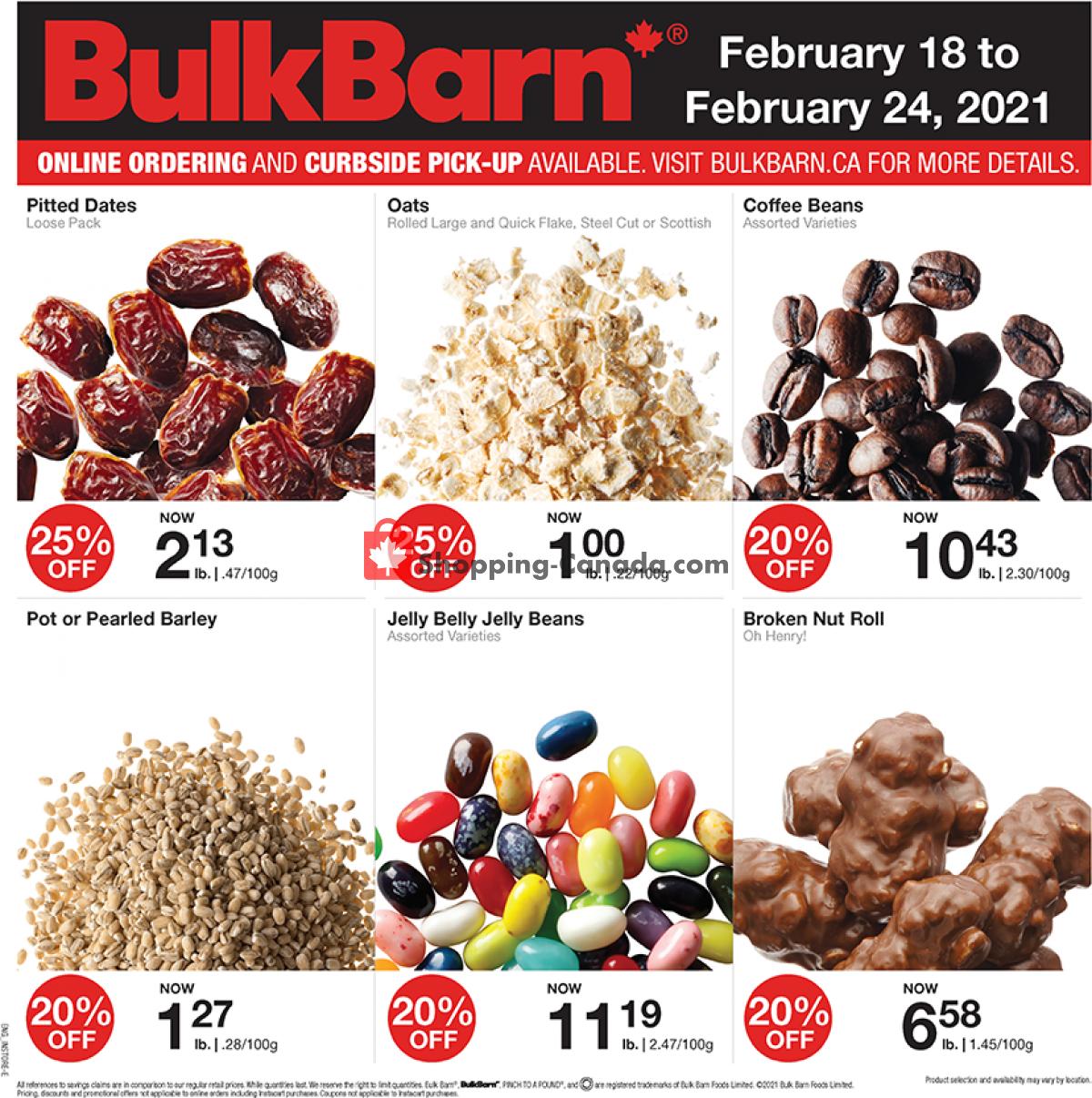Flyer Bulk Barn Canada - from Thursday February 18, 2021 to Wednesday February 24, 2021