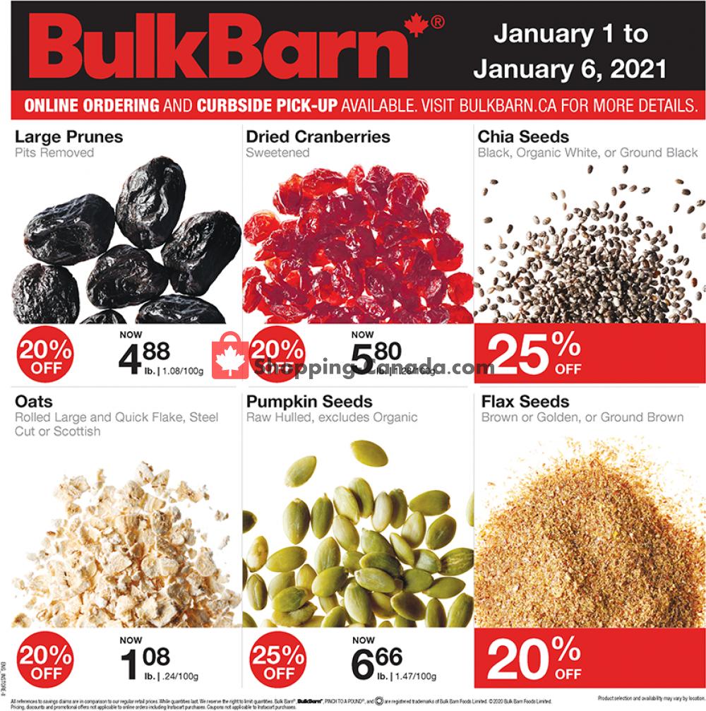 Flyer Bulk Barn Canada - from Friday January 1, 2021 to Wednesday January 6, 2021