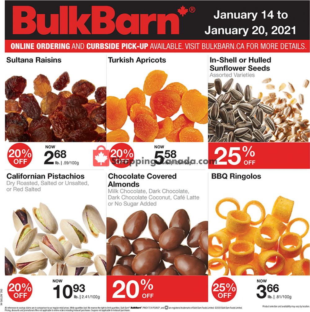 Flyer Bulk Barn Canada - from Thursday January 14, 2021 to Wednesday January 20, 2021