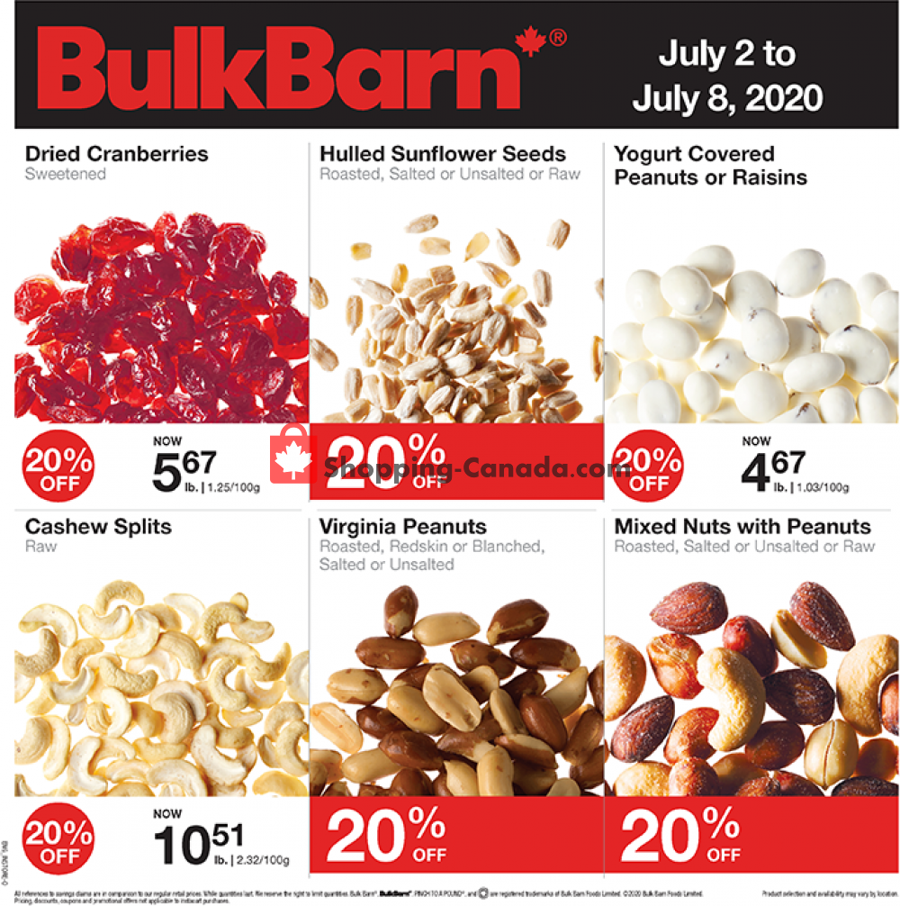 Flyer Bulk Barn Canada - from Thursday July 2, 2020 to Wednesday July 8, 2020