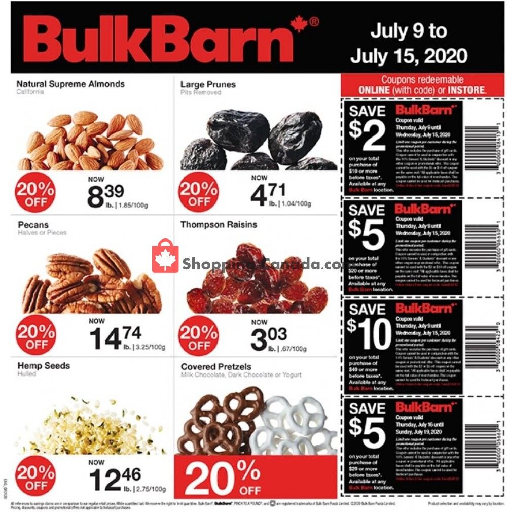 Flyer Bulk Barn Canada - from Thursday July 9, 2020 to Wednesday July 15, 2020