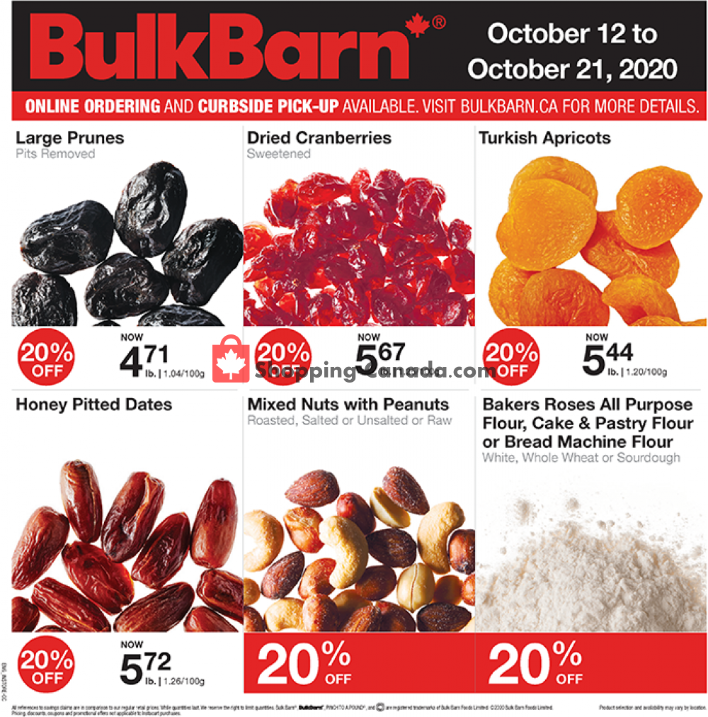 Flyer Bulk Barn Canada - from Monday October 12, 2020 to Wednesday October 21, 2020