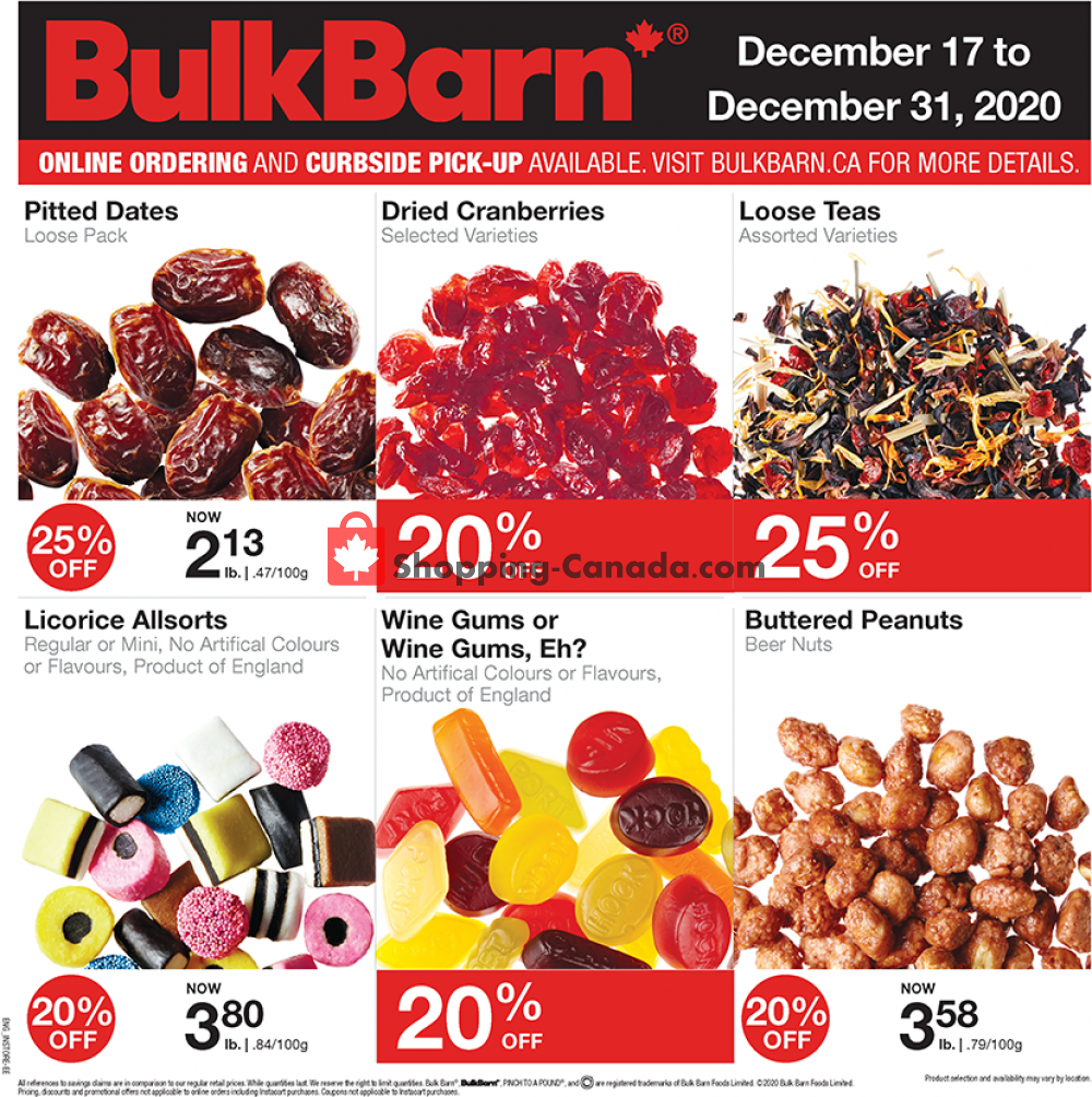 Flyer Bulk Barn Canada - from Thursday December 17, 2020 to Thursday December 31, 2020