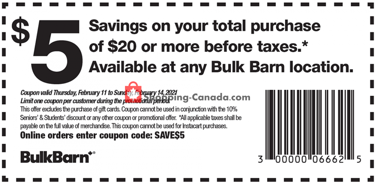 Flyer Bulk Barn Canada - from Thursday February 11, 2021 to Wednesday February 17, 2021
