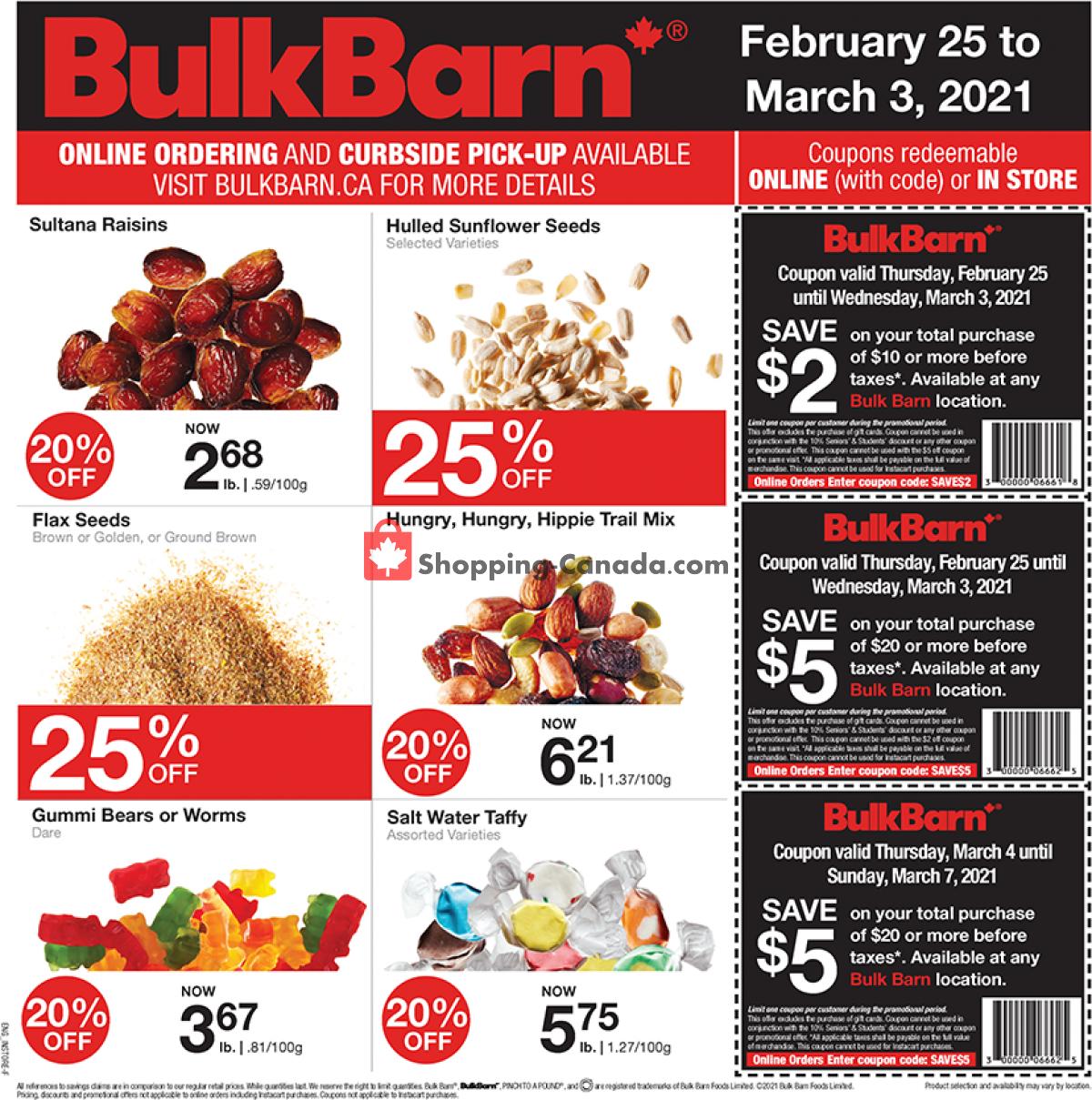 Flyer Bulk Barn Canada - from Thursday February 25, 2021 to Wednesday March 3, 2021