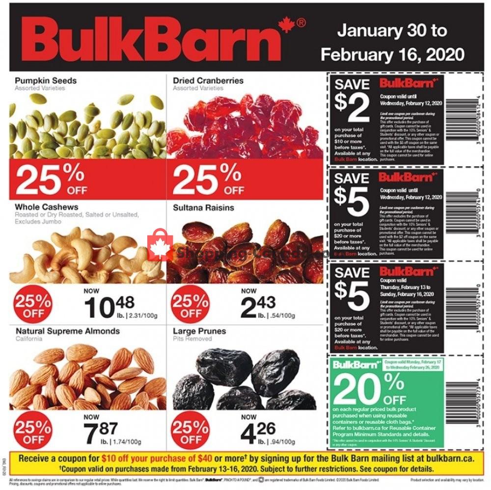 Flyer Bulk Barn Canada - from Thursday January 30, 2020 to Sunday February 16, 2020