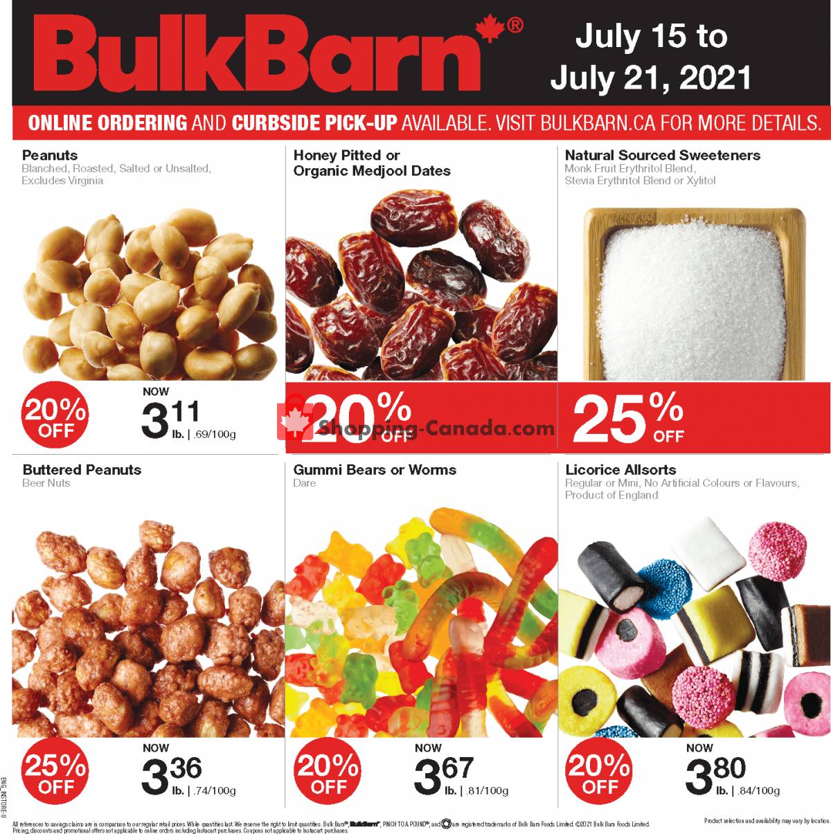 Flyer Bulk Barn Canada - from Thursday July 15, 2021 to Wednesday July 21, 2021