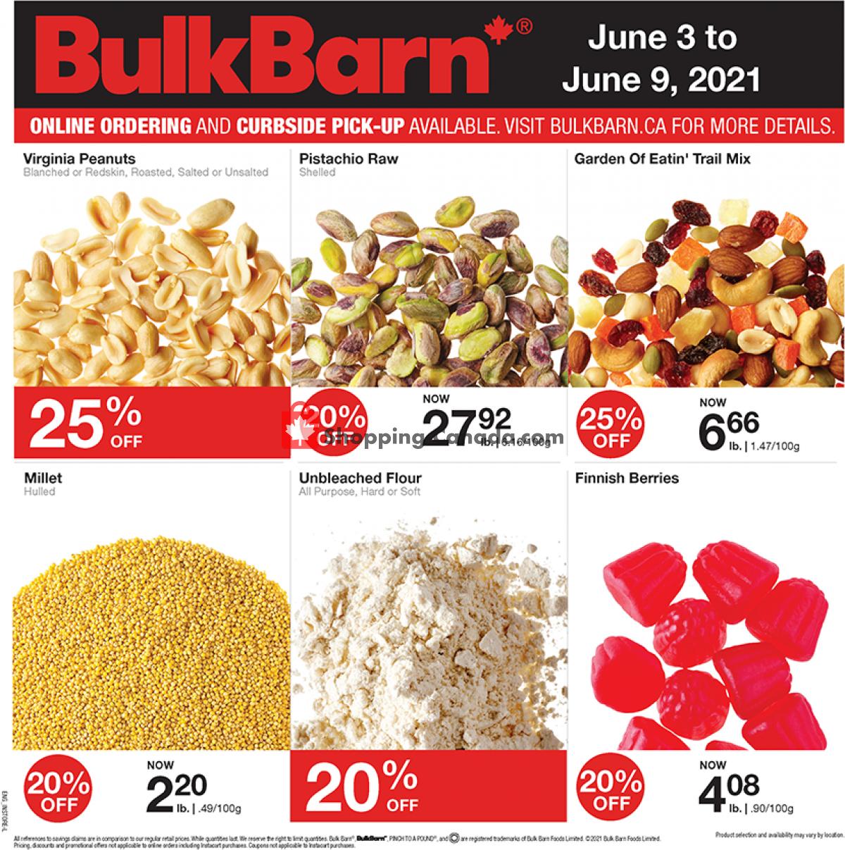 Flyer Bulk Barn Canada - from Thursday June 3, 2021 to Wednesday June 9, 2021