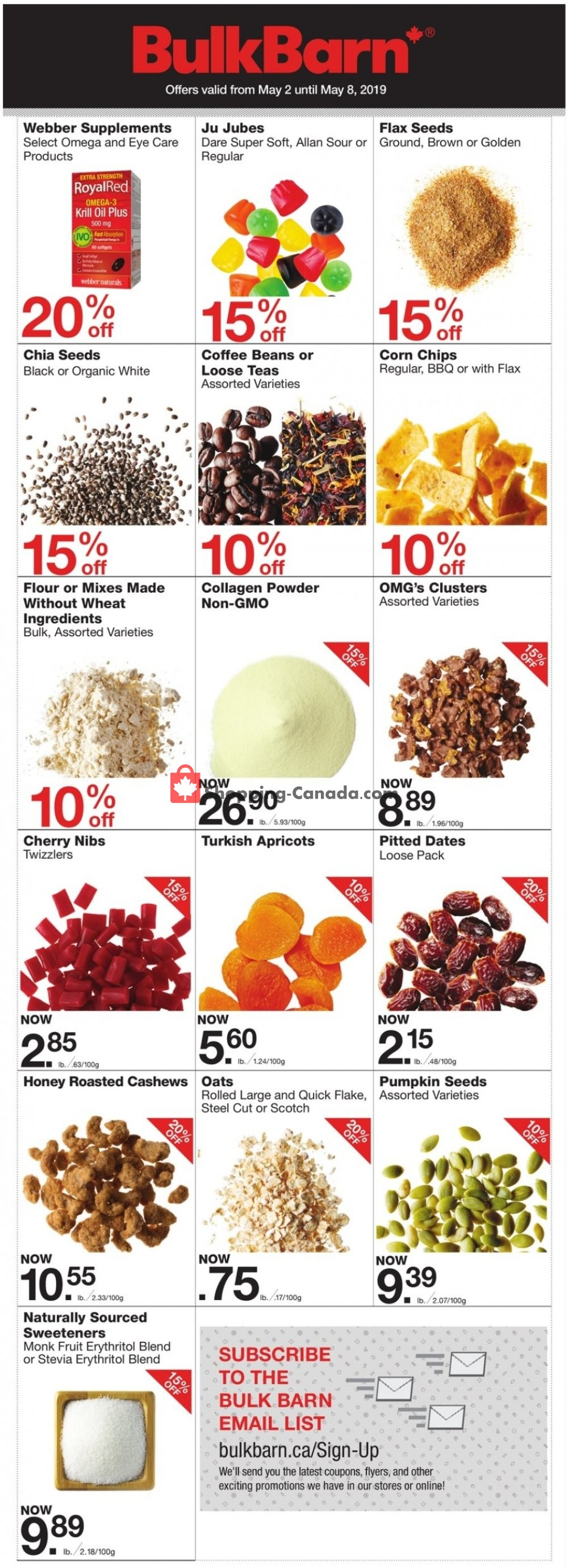Flyer Bulk Barn Canada - from Thursday May 2, 2019 to Wednesday May 8, 2019