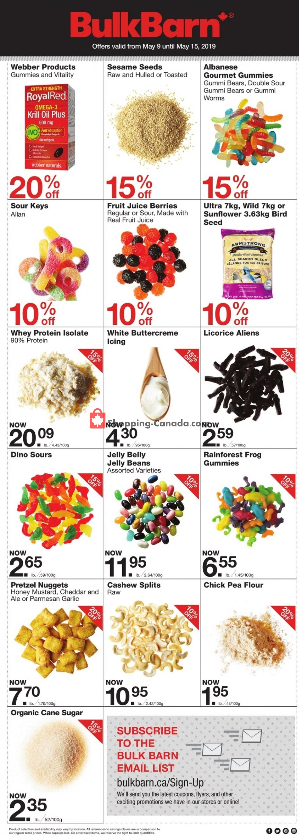 Flyer Bulk Barn Canada - from Thursday May 9, 2019 to Wednesday May 15, 2019