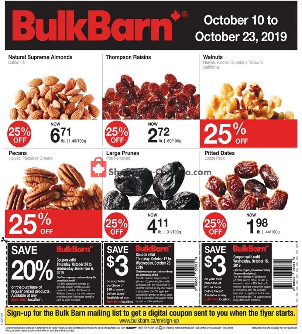 Flyer Bulk Barn Canada - from Thursday October 10, 2019 to Wednesday October 23, 2019