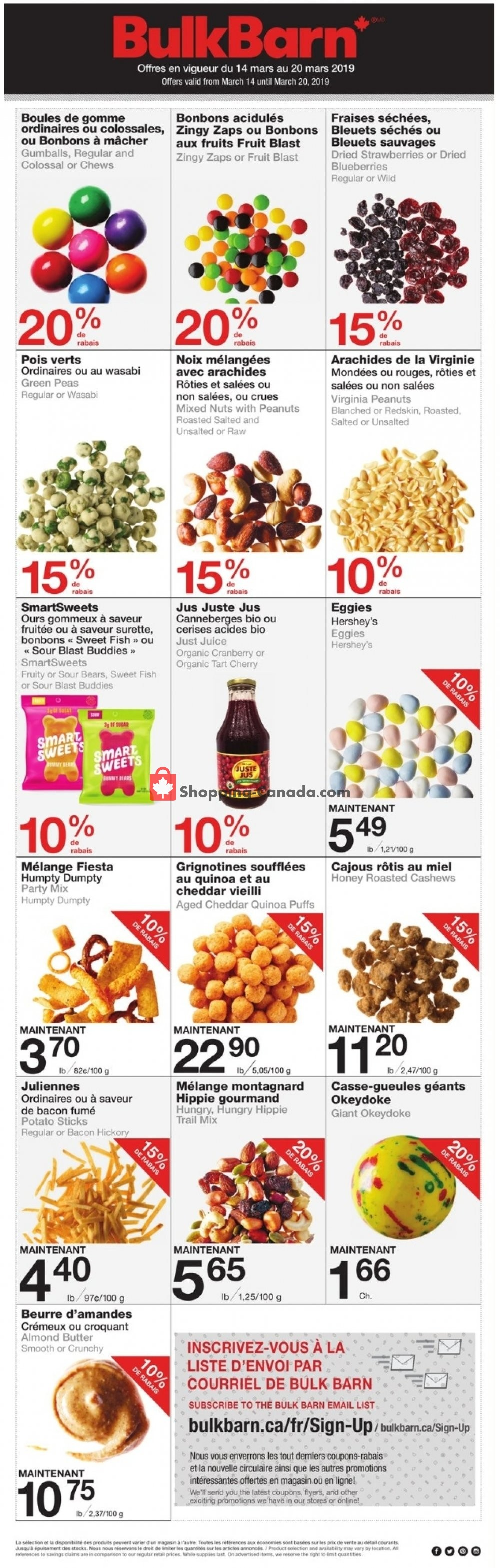Flyer Bulk Barn Canada - from Thursday March 14, 2019 to Wednesday March 20, 2019