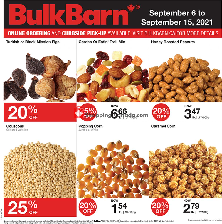 Flyer Bulk Barn Canada - from Monday September 6, 2021 to Wednesday September 15, 2021