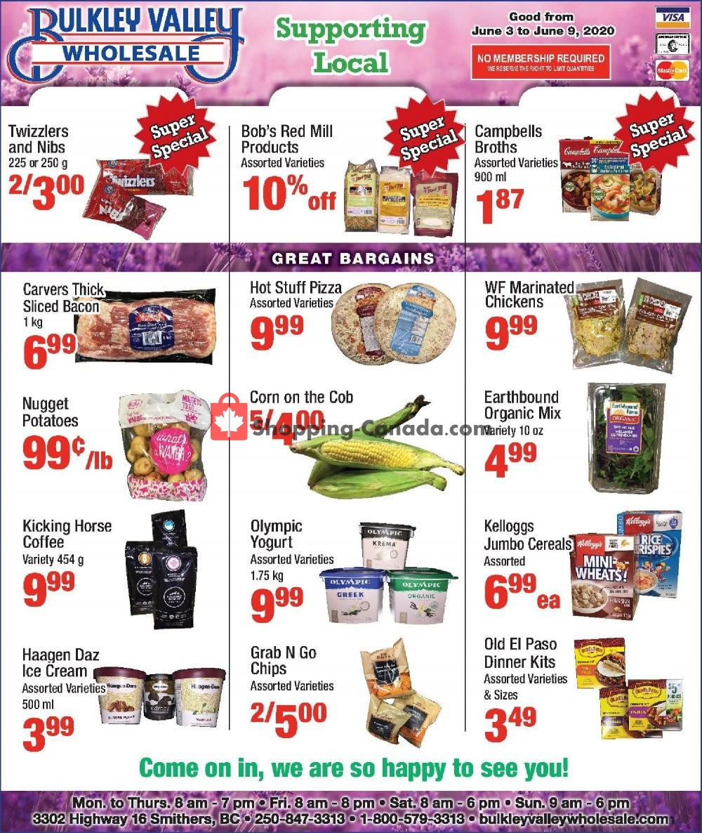Flyer Bulkley Valley Wholesale Canada - from Wednesday June 3, 2020 to Tuesday June 9, 2020