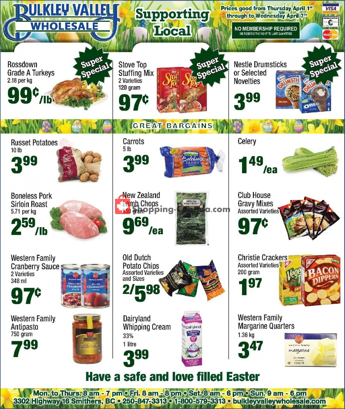 Flyer Bulkley Valley Wholesale Canada - from Thursday April 1, 2021 to Wednesday April 7, 2021