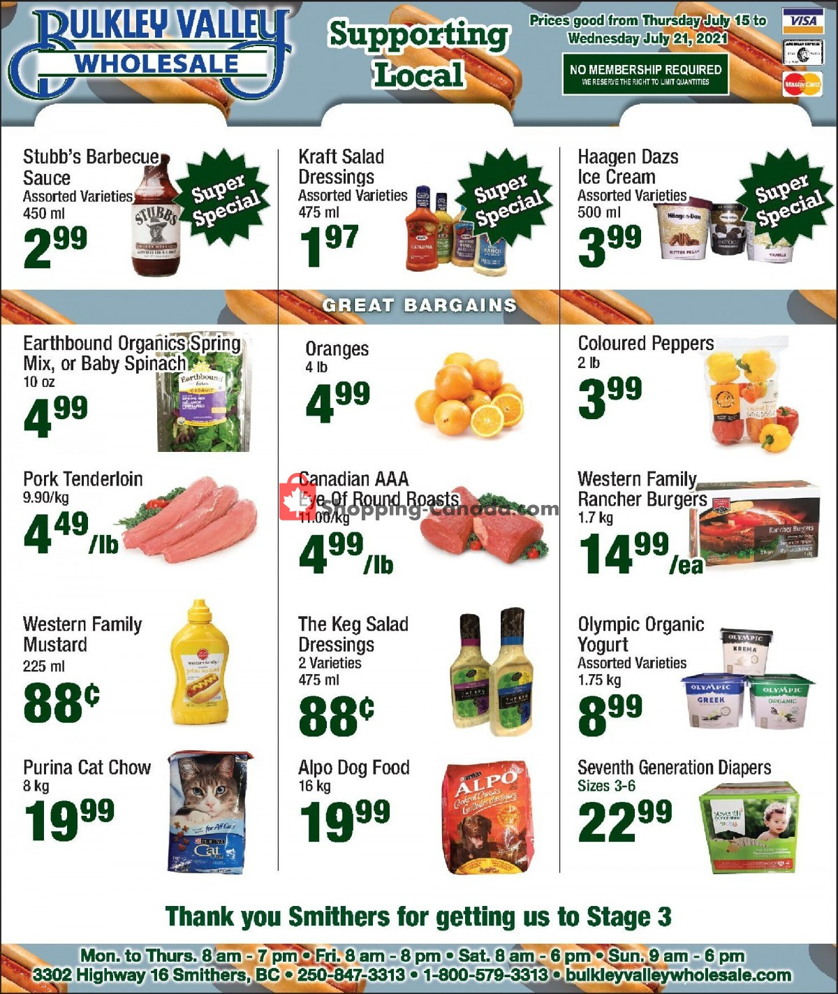 Flyer Bulkley Valley Wholesale Canada - from Thursday July 15, 2021 to Wednesday July 21, 2021