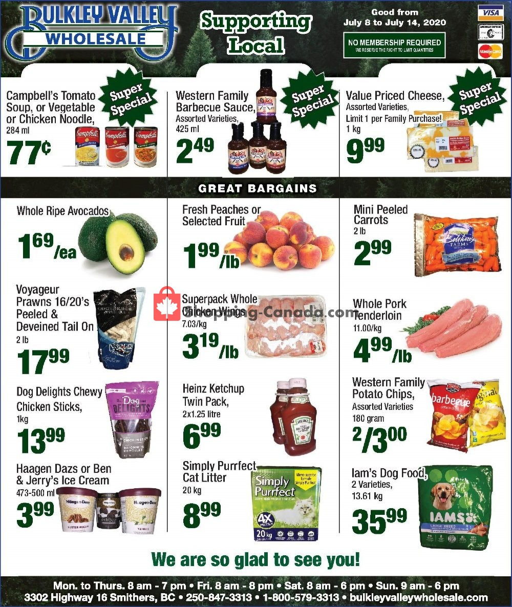 Flyer Bulkley Valley Wholesale Canada - from Wednesday July 8, 2020 to Tuesday July 14, 2020