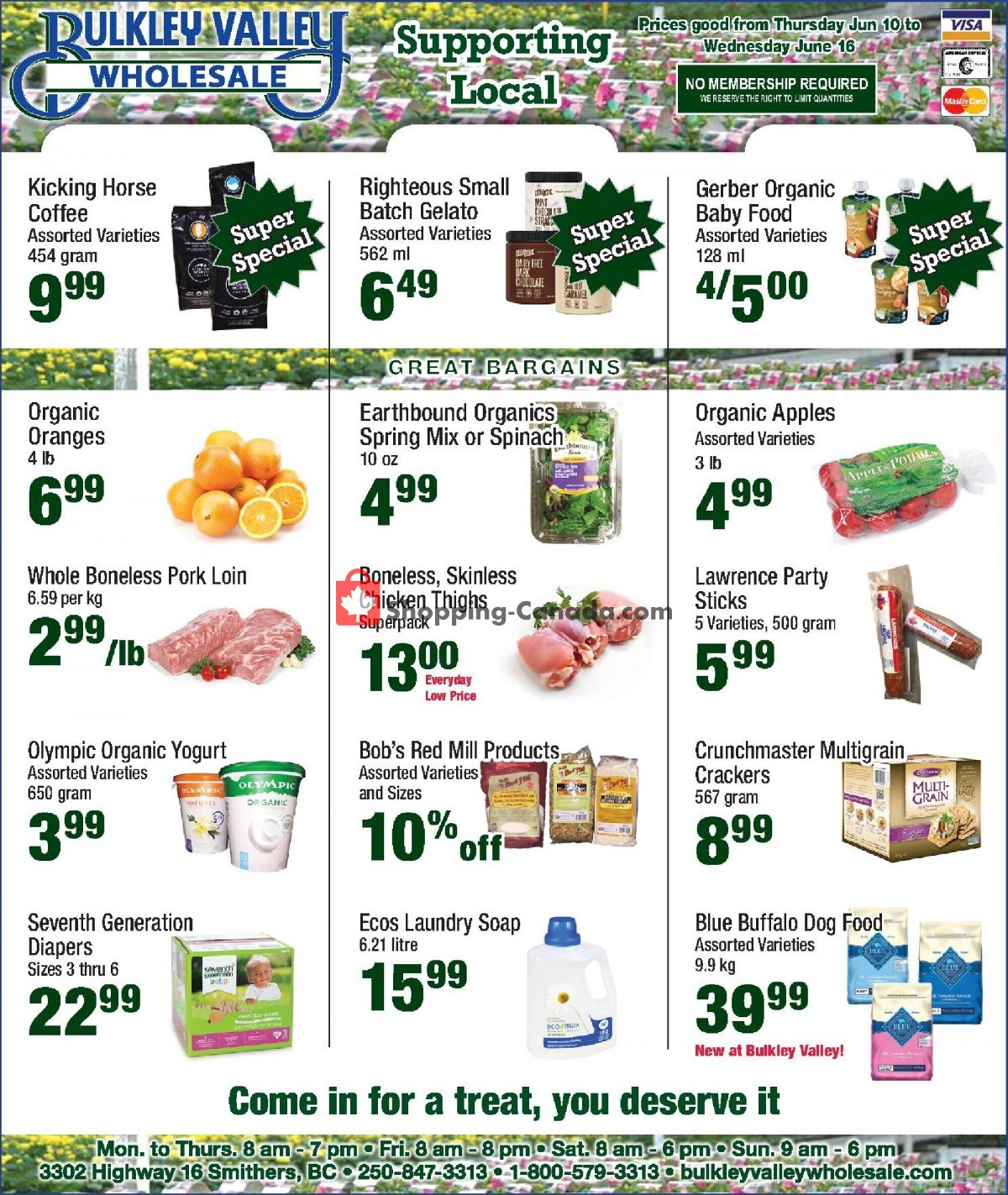 Flyer Bulkley Valley Wholesale Canada - from Thursday June 10, 2021 to Wednesday June 16, 2021