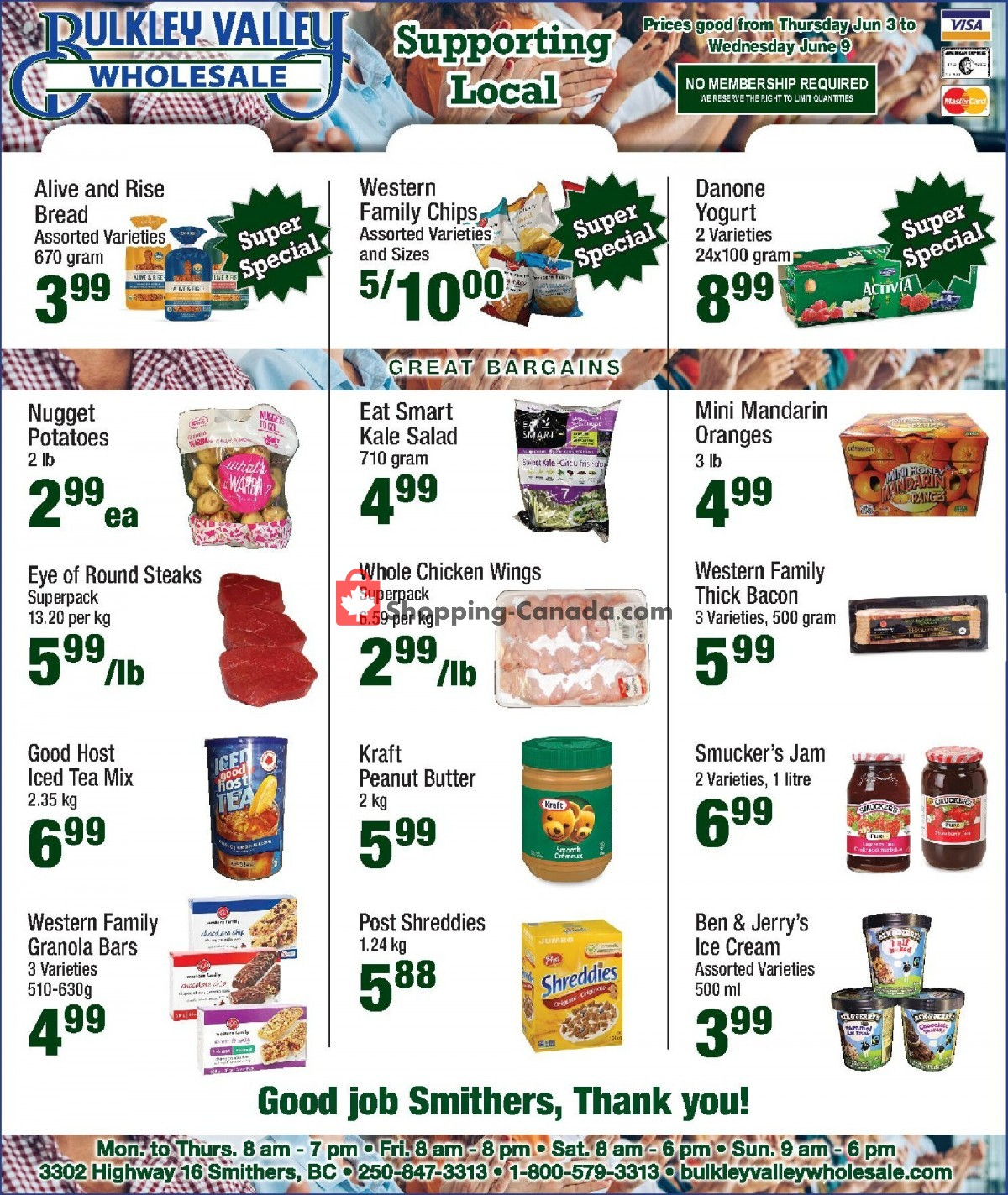 Flyer Bulkley Valley Wholesale Canada - from Thursday June 3, 2021 to Wednesday June 9, 2021