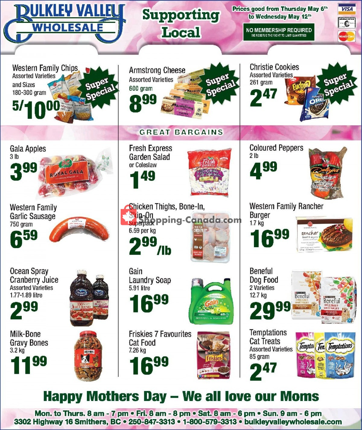 Flyer Bulkley Valley Wholesale Canada - from Thursday May 6, 2021 to Wednesday May 12, 2021