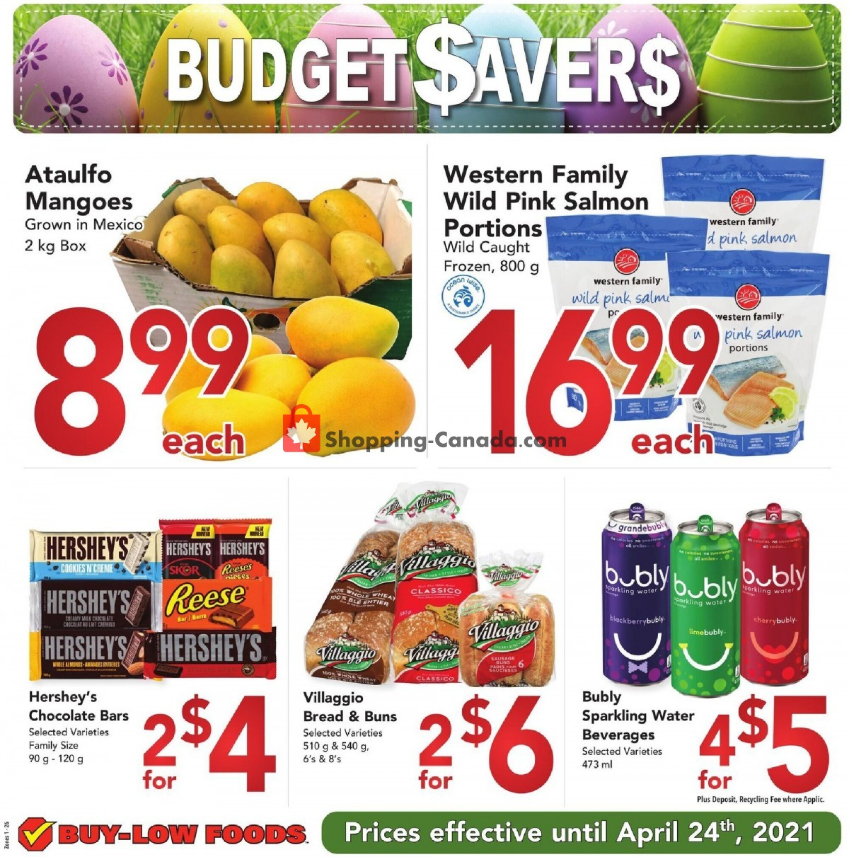Flyer Buy-Low Foods Canada - from Sunday March 28, 2021 to Saturday April 24, 2021
