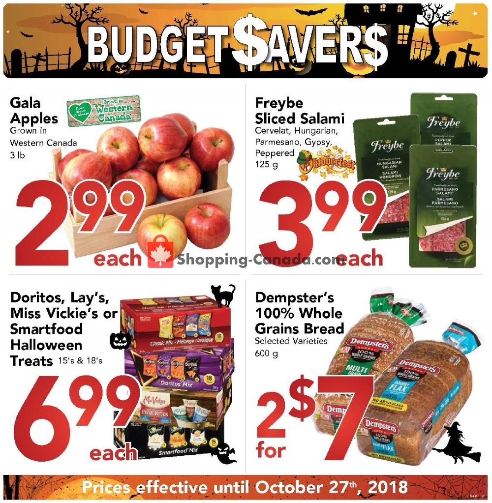 Flyer Buy-Low Foods Canada - from Sunday September 30, 2018 to Saturday October 27, 2018