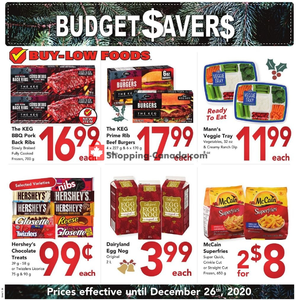 Flyer Buy-Low Foods Canada - from Tuesday December 22, 2020 to Saturday December 26, 2020