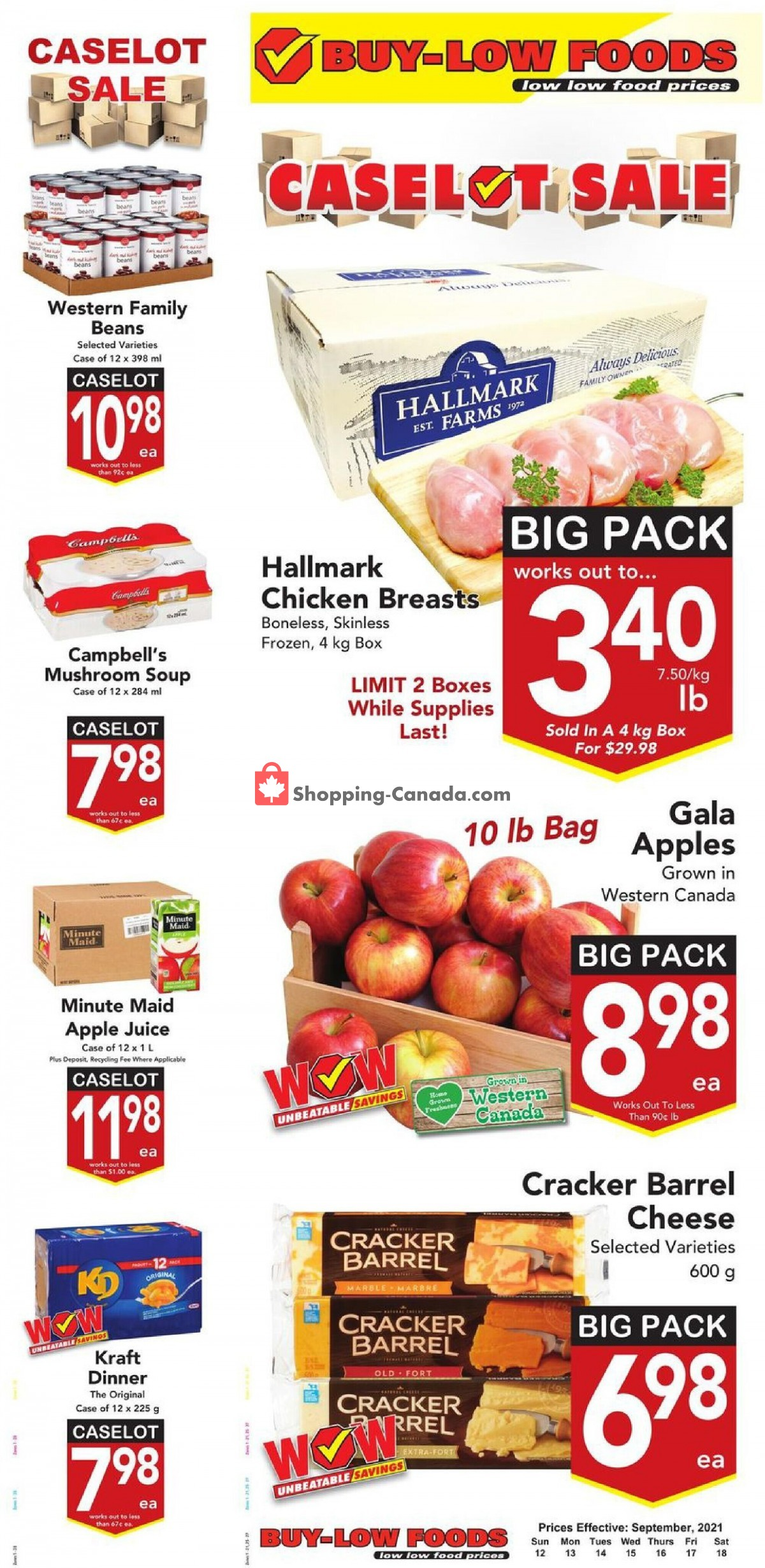 Flyer Buy-Low Foods Canada - from Sunday September 12, 2021 to Saturday September 18, 2021