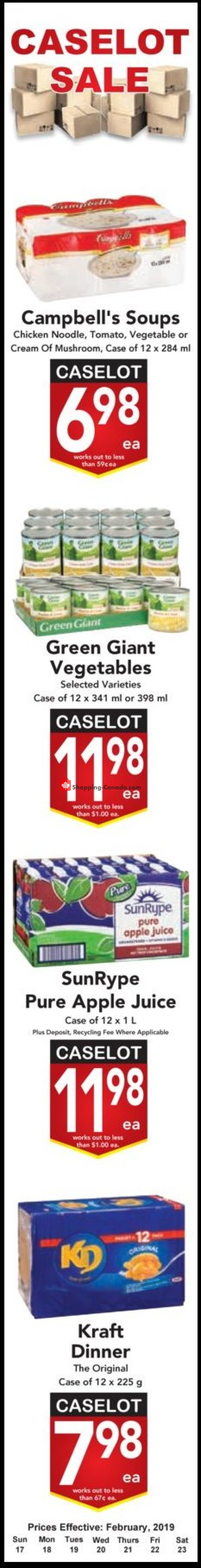 Flyer Buy-Low Foods Canada - from Sunday February 17, 2019 to Saturday February 23, 2019