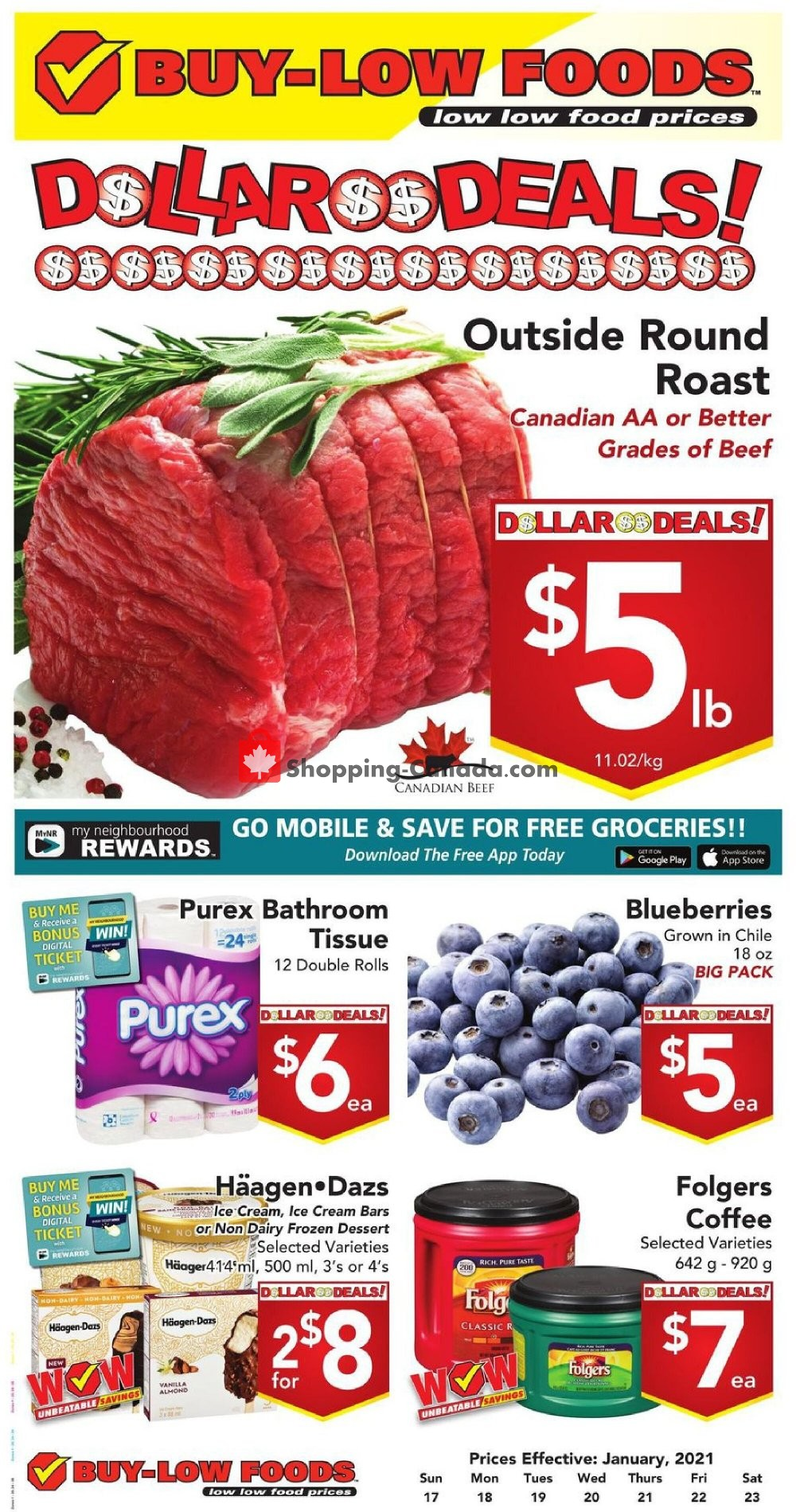 Flyer Buy-Low Foods Canada - from Sunday January 17, 2021 to Saturday January 23, 2021